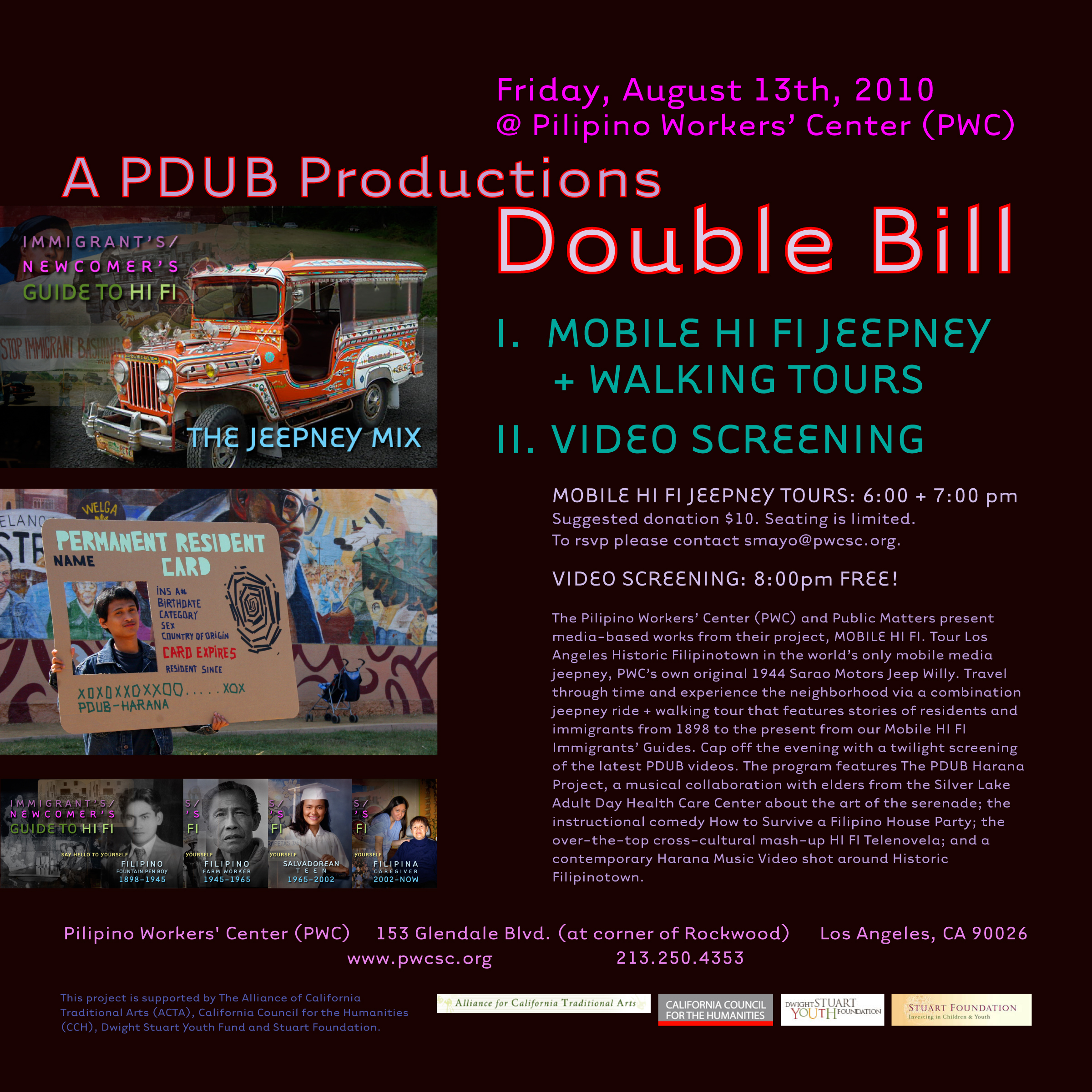 PDUB Productions Double bill flyer